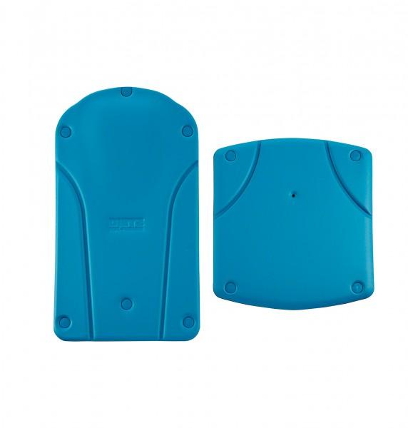 Sitz-& Rückenbezug aquamarin antibakteriell, vollflächig mit Stopfen