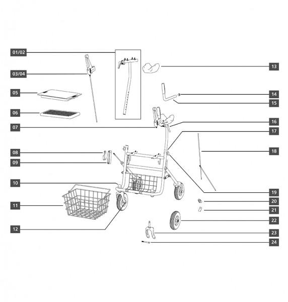 Tablett/Tasche/Korb