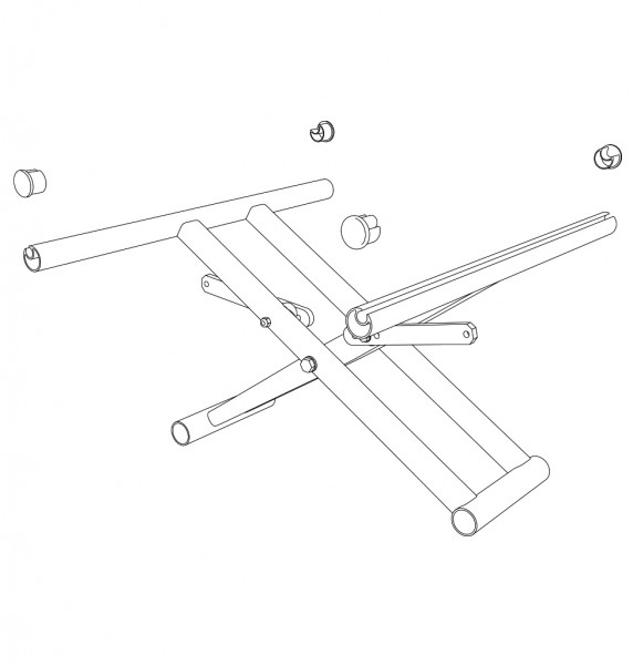 Kreuzstrebe, doppelt, SB54, ST(48)51 cm, inkl. Verbinder / Seitenrahmen