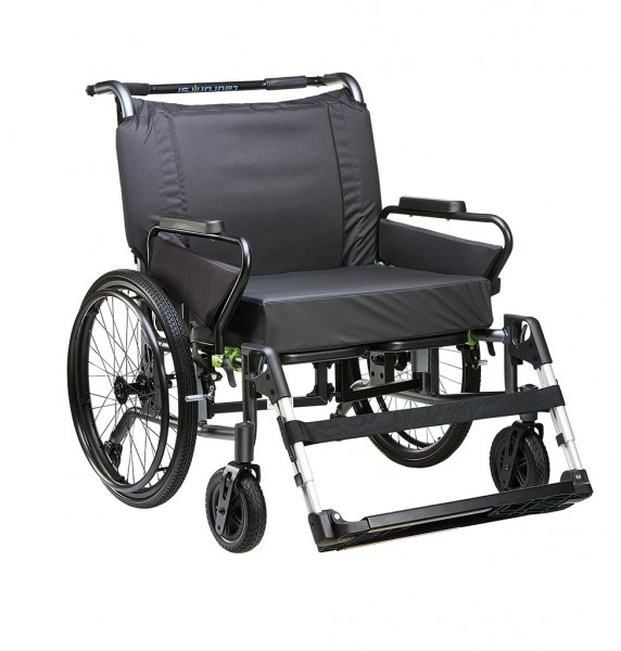 tauron, Rollstuhl faltbar, SB 60-75 cm, ST 36-48 cm, max. Belastbarkeit 250 kg