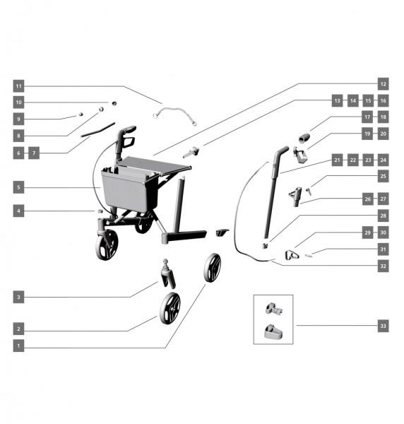 Schiebegriff/Armauflagen