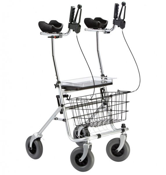 Rollator Ergo Arthritis, silber, mit Sitz,Tablett,Einkaufskorb