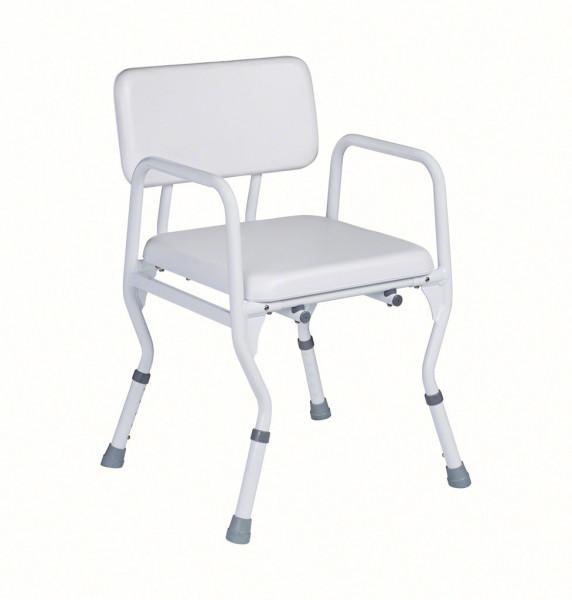 Duschstuhl Comfort, mit Rücken, Belastbarkeit bis 160 kg