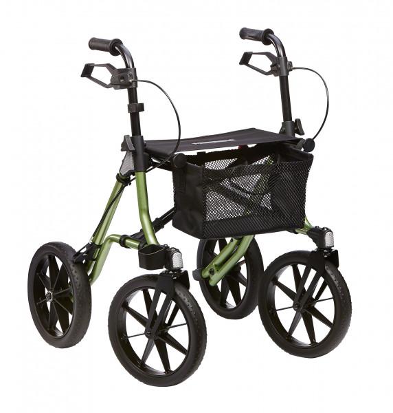 "TAiMA XC, 12"" PU-bereift, Leichtgewichts -rollator, SH 60, oasisgrün metallic"