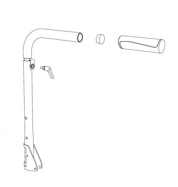 Schiebegriff höhenverstellbar, links, RH (47)50 cm