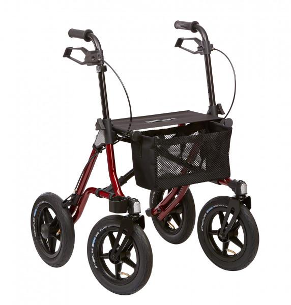 """TAiMA XC, 12"""" luftbereift, Leicht- gewichtsrollator, SH 60, rot metallic"""