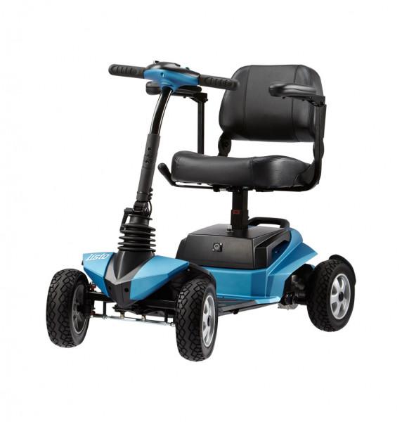 listo, BECHLE Scooter, 6 km/h, blau, Federung, teilbar, mit Korb & Armlehnen