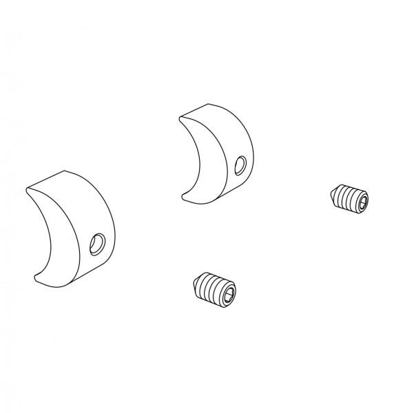 Kleinteileset, Montage Hinterrad AP, 2x Kunststoff Halbmonde, 2x Schrauben