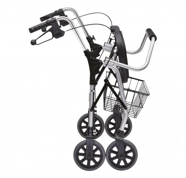 XXL Rollator, silber, m. Sitz, abnehmba- rer Rückenbügel, max. 200 kg