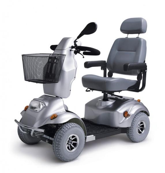Scooter Alvaro, 4-Rad, max. 15 km/h, silber, Batterien 12V/50Ah,