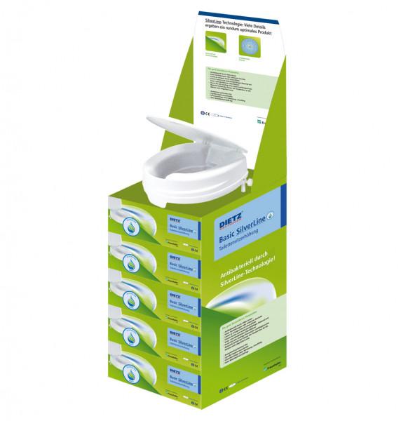 Basic SilverLine Nachfüllpackset = 1 Karton mit 5 Toilettensitzerhöhungen