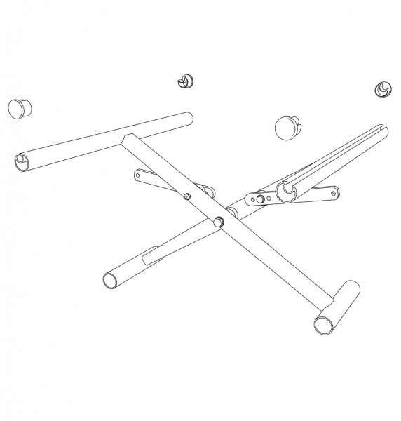 Kreuzstrebe, einfach, SB36, ST(42)45 cm, inkl. Verbinder / Seitenrahmen