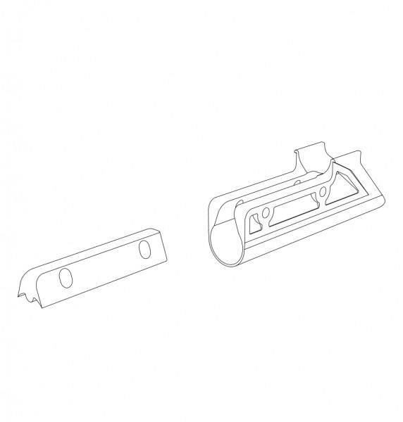 Verbinder, Kunststoff, Seitenrahmen/ Schiebegriff, li/re