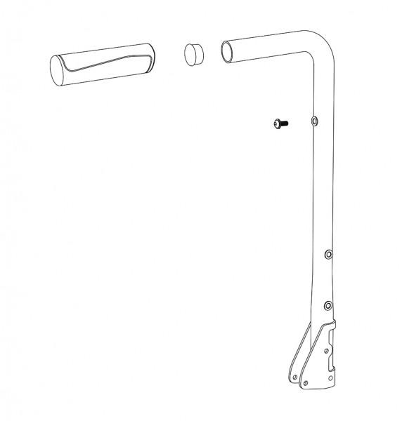 Schiebegriff starr, rechts, RH (35)38 cm