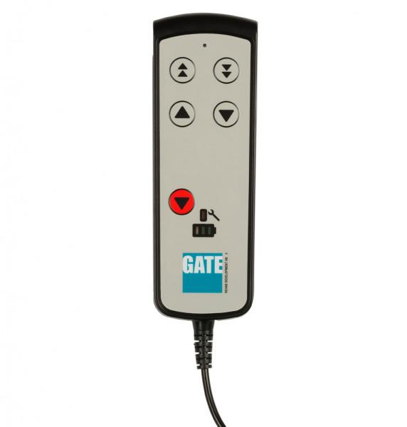 Handbedienung PLUS (TH10) inkl. Halter, 2 Geschwindigkeiten, Akku-/Servicelampe