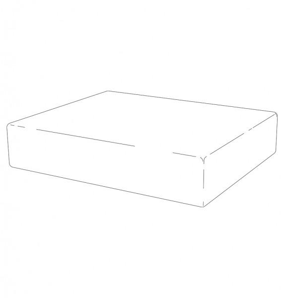 Sitzkissen +5 cm, schwarz, SB 75, 69 x 48 x 12 cm (BxTxH)
