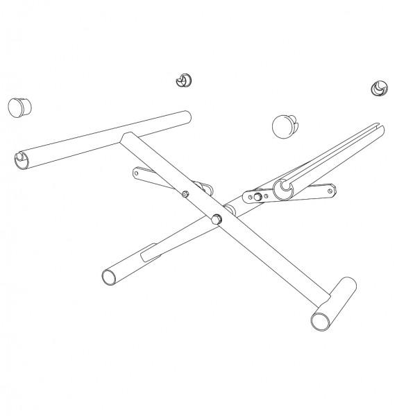 Kreuzstrebe, einfach, SB38, ST(42)45 cm inkl. Verbinder / Seitenrahmen