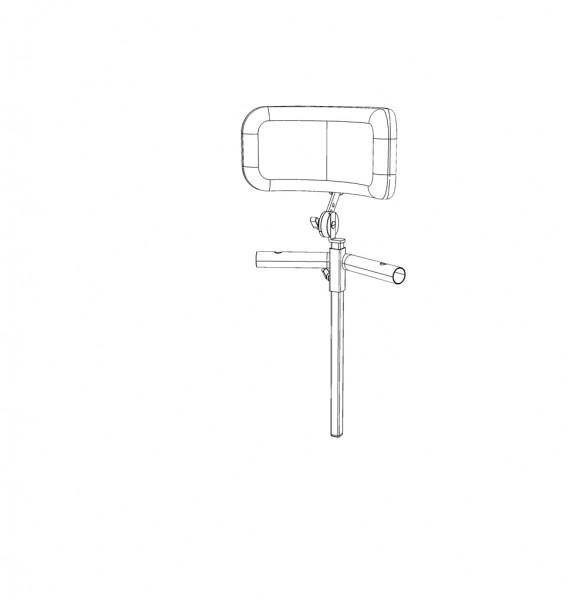 Kopfstütze, 4-fach einstellbar (Winkel, Höhe,Tiefe, lateral), PU Polster