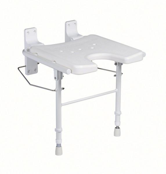 Duschklappsitz 9404-A, höhenverstellbar inkl. Montagematerial ohne Soft Pad