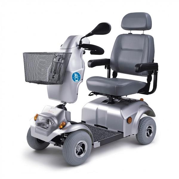 Scooter Agin, max. 6 km/h, silber metallic, 4-Rad, Kompakt ÖPNV