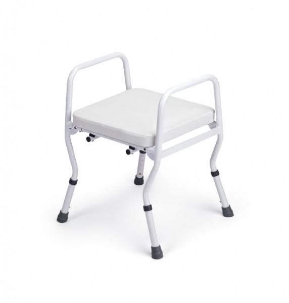 Duschhocker Comfort, ohne Rücken, Belastbarkeit bis 160 kg